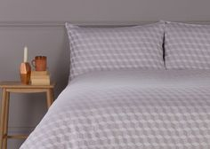 Cubus 300TC Yarn Dye Sateen Bed Set, Spacetime Grey