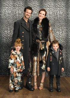 Super Cute Dolce & Gabbana Family Photo. Adorable Mini Me Boys & Girls Clothes from the D&G Fall Winter 2017-18 Fashion Show in Milan.