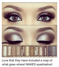 Brand-NAKED Eye Makeup @Sabrina Majeed Majeed Majeed Majeed Hayter we need to get the naked pallet so bad...
