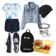 #backtoschool by anusharao on Polyvore featuring polyvore fashion style VILA Vans Pieces