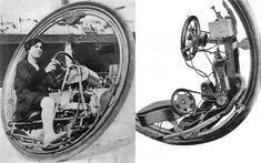 Dark Roasted Blend: Monowheels: The Weirdest Transport Known to Man Monocycle, Robot Technology, Technology Gadgets, Weird Inventions, Strange Cars, Octopus Design, Chain Drive, Skate Surf, Found Object Art