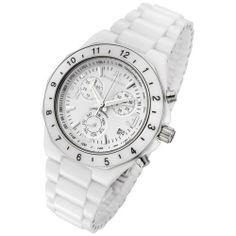 Rougois White Ceramic Ladies Chronograph Watch Rougois. $199.95