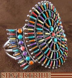 Turquoise And Multicolor Genuine Sterling Silver Cuff Bracelet Jewelry RS37894