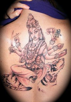 durga goddess tattoo | Hindu tattoo by Freddy Arroyo by ~FallenOwlTattoo on deviantART
