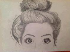 Messy Bun drawing