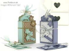 Stampin' Up! UK Independent Demonstrator Pootles - A Gift Box of Tags