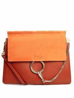 CHLOÉ Faye Suede And Leather Shoulder Bag. #chloé #bags #shoulder bags #suede #