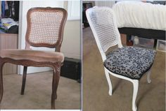 SecondHand Couture: modern chair reupholster. Perfect for redoing a thrift store chair.