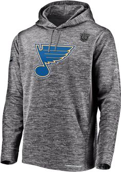new concept b87d8 18cef Fanatics Men s 2019 NHL Stanley Cup Playoffs Authentic Pro St. Louis Blues  Heather Grey Hoodie