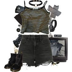 longview by causingpanicatthetheater on Polyvore featuring Alexander Wang, Dr. Martens, Nika, Sony, Marshall and vintage