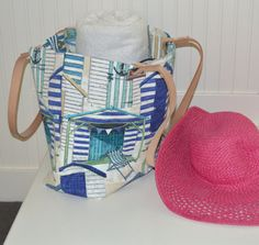 Blue Nautical Beach Bag by StylishLiving1 on Etsy, $85.00