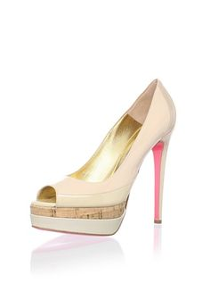 Ruthie Davis Womens Popsicle Platform Pump, Blush Multi, 39 EU/9 M US