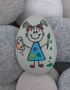 Beautiful & Unique Rock Painting Ideas , Let's Make Your Own Creativity Pebble Painting, Pebble Art, Stone Painting, Stone Crafts, Rock Crafts, Hobbies And Crafts, Arts And Crafts, Christmas Rock, Rock And Pebbles
