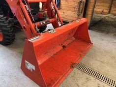 Kubota™ Quick-Attach Buckets - BoltOnHooks LLC Kubota Compact Tractor, Compact Tractors, Compact Tractor Attachments, Tractor Accessories, Small Tractors, Yard Maintenance, Kubota Tractors, Buckets, Hooks