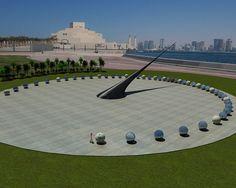 Sundial in Doha, Qatar