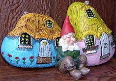 Painted Rock Gnome Homes..know how you love gnomes, T