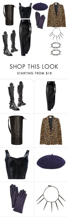 """Untitled #962"" by jessica-uyvette-thompson on Polyvore featuring Diesel Black Gold, Anthony Vaccarello, JLEW Bags, Frame, Dolce&Gabbana, Gloves International, Burberry and Joomi Lim"