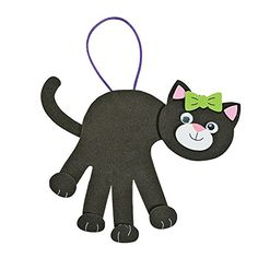 Black Cat Handprint Craft Kit * Click image to review more details.