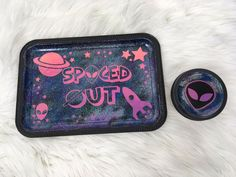 Custom Made Galaxy Rolling Tray and Stash Jar Set. Custom Rolling Tray Set with 8 Oz wide mouth mason Jar. This is handmade - Painted, decorated with decals or vinyl & Sealed with FDA approved sealant. Diy Resin Tray, Diy Resin Crafts, Resin Art, Stoner Room, Stoner Gifts, Stash Jars, Handmade Paint, Pipes And Bongs, Smoke Shops