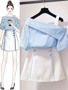 Korean Women's Fashion Ideas 1247772079 – Ruffles fashion… - Korean fashion Set Fashion, Teen Fashion Outfits, Look Fashion, Stylish Outfits, Girl Fashion, Cute Outfits, Womens Fashion, Fashion Ideas, Classy Fashion