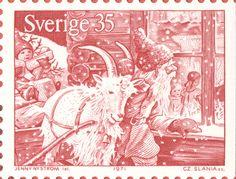 """Sweden 35ö """"Old time Christmas"""" 1971. Jenny Nyström del. Czeslaw Slania sc."""