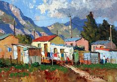 Roelof Rossouw Landscape Art, Landscape Paintings, Landscapes, Building Painting, Mini Canvas Art, South African Artists, Great Paintings, Art For Art Sake, Corfu