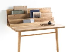 Le Scriban Desk by Margaux Keller | A hybrid desk and console table with built in storage and display for photo frames, mirrors, cards and more. |