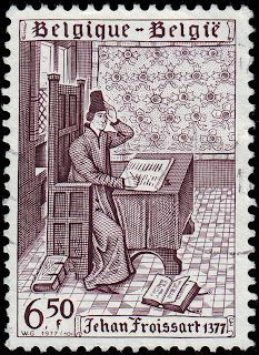 Literary Stamps: Froissart, Jean (c. 1337 – c. 1405)