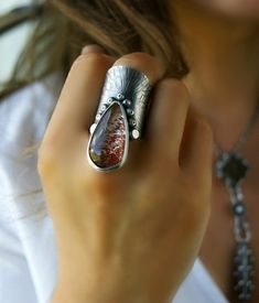 Fire Beneath the Ice Lodolite Sterling Silver Ring