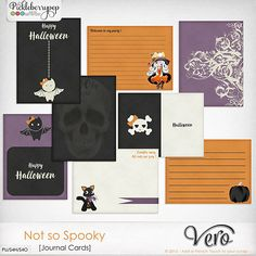 Not so Spooky [Journal Cards] By Vero