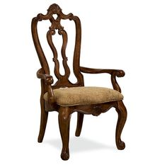 Found it at Wayfair - Villa Carved Armchair in Tan