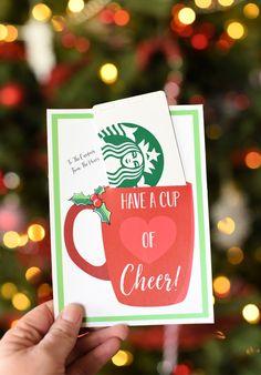 Have A Cup Of Cheer Gift Card Holder-Just Add A ! haben sie eine tasse cheer gift card holder-just add a ! ayez une tasse de support de carte-cadeau cheer-just add a ! tenga una taza de titular de la tarjeta de regalo cheer: solo agregue un Christmas Gift Card Holders, Teacher Christmas Gifts, Holiday Gifts, Joy Holiday, Simple Christmas Gifts, Daycare Teacher Gifts, Christmas Crack, Christmas Presents, Holiday Ideas