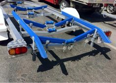 Ribbed Boat Trailer Bunks X X 1500 With 45 Degree Bends. Boat trailer bunks with 45 degree angles. Made from blue plastic. Boat Trailer Parts, Boat Parts, Rib Boat, Aluminum Boat, Degree Angle, Parts Catalog, Motor Boats, Camper Trailers, Rv