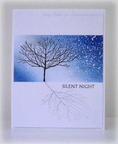 clean and simple - silent night - christmas