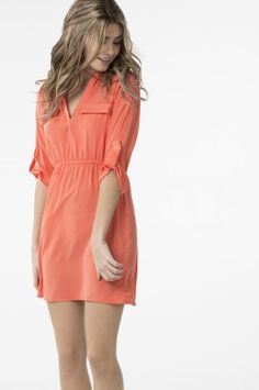 Coral tunic dress ** Prefect for Spring <3 ** #spring #tshirt dress