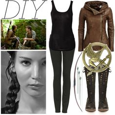 """""""DIY Katniss Everdeen Costume"""" by er18x on Polyvore"""