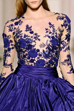 Zuhair Murad Couture, Fall/Winter 2012 | #Blue #bleu #blu #fashion #glamour #style #dress #hautecouture