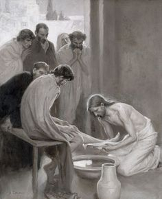 Biblical Scene Painting - Jesus Washing The Feet Of His Disciples by Albert Gustaf Aristides Edelfelt Religious Pictures, Bible Pictures, Jesus Pictures, Religious Art, Life Of Christ, Jesus Christ, Holy Thursday, Religion Catolica, Holy Week