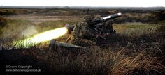 Royal Marines of 40 Commando are pictured firing a Javelin Anti-tank Guided Weapon as a part of Exercise Noble Mariner.