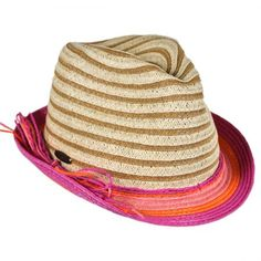Child s Striped Fedora Hat by Panama Jack available at  VillageHatShop  Fedora Hat a21af88f923e