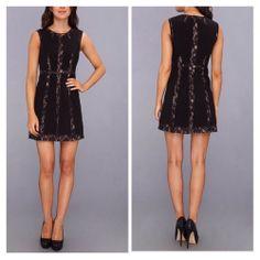 *NEW* BCBG Black MARAE Blocked A-Line Dress 10 $298 IRG6Y435 #BCBGMAXAZRIA #LittleBlackDress