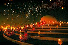YeePeng Festival  ChiangMai Thailand by chattakan koso