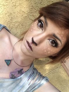 Fawn makeup. Idk why but I love this! Would be great for Halloween.