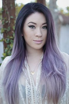 ombre hair purple pastel