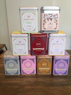 Harney and sons tea packaging