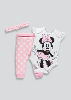 Newborn Girl Outfits, Toddler Outfits, Minnie Mouse Gifts, Girls Clothes Shops, Baby Bloomers, Bodysuit Fashion, Cute Baby Clothes, Baby Gear, Future Baby