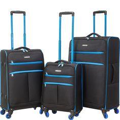 travelers club luggage transcend 3pc softside luggage set ebagscom