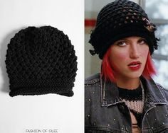 Quinn's beanie looks like it was hacked at with a pair of scissors…or maybe Sheila's spork. Urban Outfitters Open Knit Slouchy Beanie - No longer available Worn with: Urban Outfitters pullover, Urban...