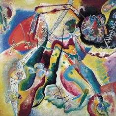Wassily Kandinsky, Painting with Red Spot 1914