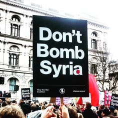 The message is simple -  don't bomb Syria.  Let's not forget baby #AylanKurdi who was washed up on shore escaping the bombs that fell on him.  #DontBombsyria #NoToWar #peace #Syria #HumanityWashedAshore
